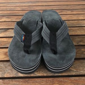 0fe457fef38 Rainbow Shoes - Rainbow 6 Layer Rainbow Wedge Premier Flip flops